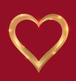 golden heart frame vector image vector image