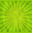 green sunburst retro background vector image vector image