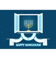 Happy Hanukkah Postcard Design vector image vector image