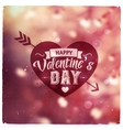 Happy Valentines Day Creative graphic message vector image
