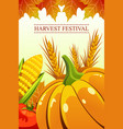 harvest festival background vector image
