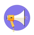Icon of white and orange megaphone or mouthpiece vector image vector image