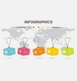 infographic design template with hanging tag vector image vector image