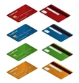 Isometric Credit cards of vector image vector image