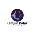 Lady in Color Logo vector image vector image