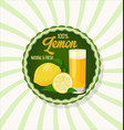 lemon natural and fresh retro vintage background vector image