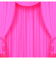 light pink curtain with tassels vector image vector image