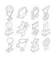 linear isometric icon set of various sport vector image vector image