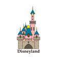logo or label disneyland line style logotype easy vector image vector image