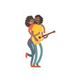 love african american dance happy young girl and vector image