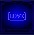 love neon light sign vector image