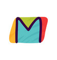 m letter logo in kids paper applique style vector image vector image
