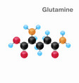 molecular omposition and structure of glutamine vector image vector image