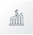 money growth icon line symbol premium quality vector image vector image