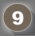 number 9 sign design template element vector image vector image