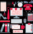 Office set abstract background vector image