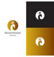 peacock logo template luxury elagant feminine vector image vector image