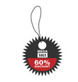 price tag mega sale 60 discount image vector image