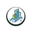 real estate logo design smart vector image vector image