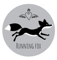 running red fox vector image