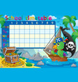 school timetable topic image 8 vector image