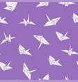 seamless origami pattern with drawing paper vector image vector image