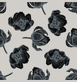 seamless pattern with hand drawn stylized tulip vector image