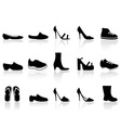 shoes icons vector image vector image