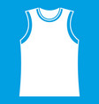 singlet icon white vector image vector image