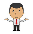 smiling cartoon businessman opens his arms vector image vector image