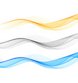 smooth wave flow color wave set abstract vector image