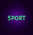 sport neon text vector image vector image