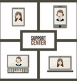 Support center design vector image vector image