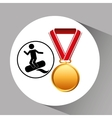 surfing medal sport extreme graphic vector image