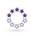 ten linear score stars in circle geometric shape vector image vector image