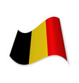 the flag of belgium vector image vector image