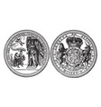 the seal of sir edmund andros the 3rd and 5th vector image vector image