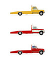 tow truck vector image