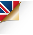 uk page curl vector image vector image