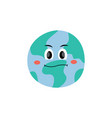unhappy dissatisfied emotion earth planet vector image
