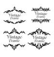 Vintage frame ornament icon set vector image vector image