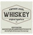 Vintage label typeface named whiskey