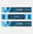 web header set of horizontal abstract banners vector image