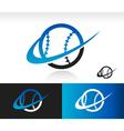 Swoosh Baseball Logo Icon