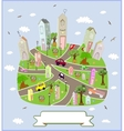 Spring sunny town vector image