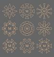 abstract line design company monogram set vector image