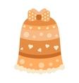 Orange abstract pattern fashion female skirt model vector image