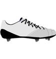 White football shoe vector image