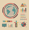 213vintage graph infographic vector image vector image