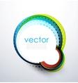 Abstract swirl circle banner vector image